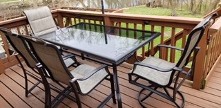 Hampton Bay - Statesville Outdoor Dining Set - 6 chairs + Glass Table in St. Charles, Illinois