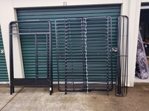 Twin size over full size  all  metal  futon bunk bed frame in Fort Campbell, Kentucky