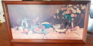 Large Art Print Still Life Fruit and Flowers Kitchen Dining Decor in Elizabethtown, Kentucky