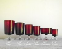 Red Stemmed Glassware in Fort Leonard Wood, Missouri