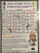 Sight word snakes and ladders in Macon, Georgia