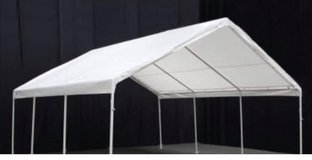King Canopy Hercules White Canopy Carport  -   18 x 20 ft. in Westmont, Illinois