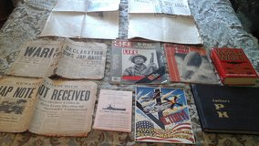 Military History  Collector  World War II  Newspaper Dec, 8 1941/Newspapers/ Books/Historical In... in Bolingbrook, Illinois