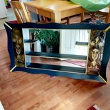 refurbished mid century modern shadow box w/mirror 48L x 30t x 5D in Morris, Illinois
