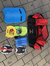 Piranha Swim Team Starter Kit! Swim bag with Training Equipment and swim caps! in Kansas City, Missouri