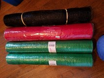 4 rolls of deco mesh green and red in Batavia, Illinois