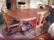 Oak Table  and ChairsVintage in Bartlett, Illinois