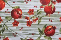 Italian huge rectangular tablecloth with pomegranates in Okinawa, Japan