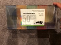 CD slim color cases (50 pack) in St. Charles, Illinois