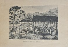 Old Portuguese illustration, without frame in Okinawa, Japan