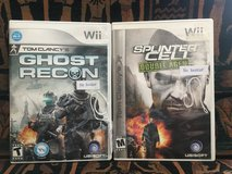 Wii Games - 2 Tom Clancy Video Games in Naperville, Illinois