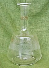 Antique Italian carafe for water or wine in Okinawa, Japan