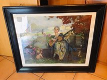 XL antique watercolor in Ramstein, Germany