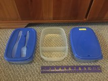New! Divided Lunch Container with Fork and Knife (3 available) in Chicago, Illinois