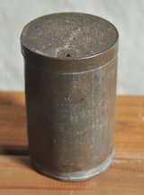 British container for war goods during the World War II by the NAAFI in Okinawa, Japan