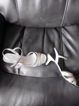 NIB Silver dress sandals in Naperville, Illinois