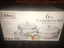 New!  Libbey Basics 6-Piece Glass Casserole Baking Dish Set with Glass Covers in Chicago, Illinois