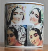 'Harem' mug from the Topkapi Palace, the most famous museum of Turkey in Okinawa, Japan