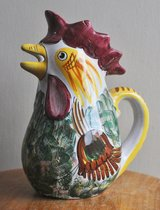 Italian large pitcher for wine or water, rooster-shaped. in Okinawa, Japan