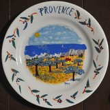 Hand-painted plate from Provence (France) in Okinawa, Japan