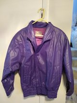 Purple Leather Jacket Size M in St. Charles, Illinois