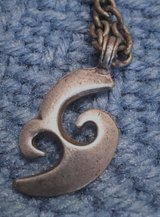 Maori Hook Necklace Vintage Silver Sturdy Chain Rare in Kingwood, Texas