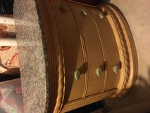 Granite Top, 3 Drawer Wood Night Stand in Naperville, Illinois