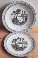 English soup plates (2) by Adams & Sons in Okinawa, Japan
