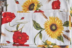 Italian small tablecloths (5), poppies and sunflowers pattern in Okinawa, Japan