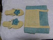 New Beach Bag and matching sandals in Okinawa, Japan