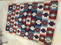 Hand Woven wool rug. American red ,white & blue, chevron pattern. in 29 Palms, California