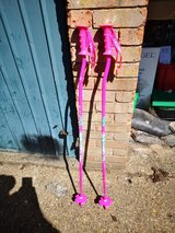 pink ski poles in Lakenheath, UK
