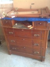 Antique Cherry Dresser with Marble top and mirror in Naperville, Illinois