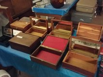 Small wood boxes in Leesville, Louisiana