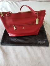 Coach Red Ava Tote Bag in Camp Lejeune, North Carolina
