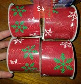 Craft ribbon Christmas colors in St. Charles, Illinois