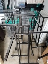 4-Way Black Clothing Rack with Straight Arms on Wheels in Chicago, Illinois