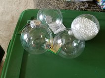 Large clear plastic Christmas ornaments in Chicago, Illinois