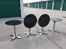 Black Cafe Table - Round (4 available) in Naperville, Illinois