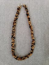 Black/gold beaded Necklace in Naperville, Illinois