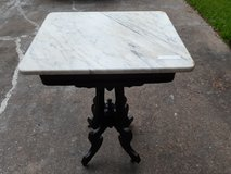 Victorian marble top table in Houston, Texas