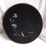 Japanese decorative small tray/plate with flowers in Okinawa, Japan