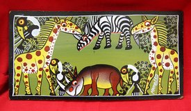 African animals paintings (4), original and hand-painted in Okinawa, Japan