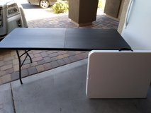 Foldable table in Nellis AFB, Nevada