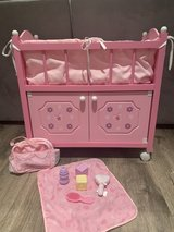 Doll bed and accessories in Joliet, Illinois