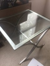 Glass end table 24X28 in Joliet, Illinois