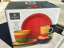 Gibson Color Vibes Dinnerware Set, 12 Piece in Travis AFB, California