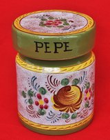 Black pepper container from Italy in Okinawa, Japan