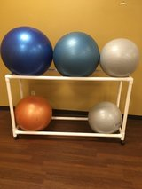 Swiss balls/ stability balls and cart in Beaufort, South Carolina