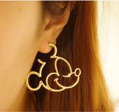 Brand New Mickey Mouse Earrings (gold plated) in Lakenheath, UK